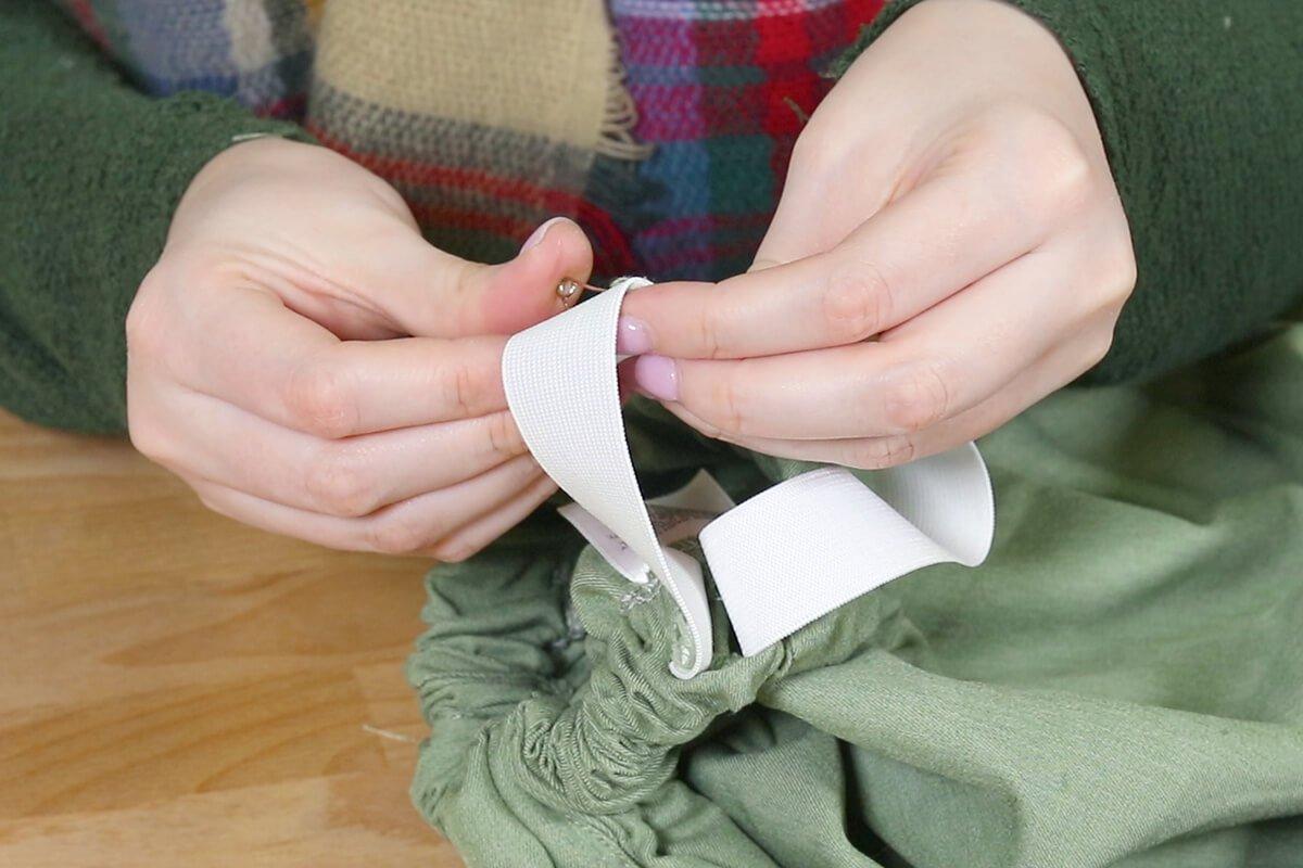 String it through pants