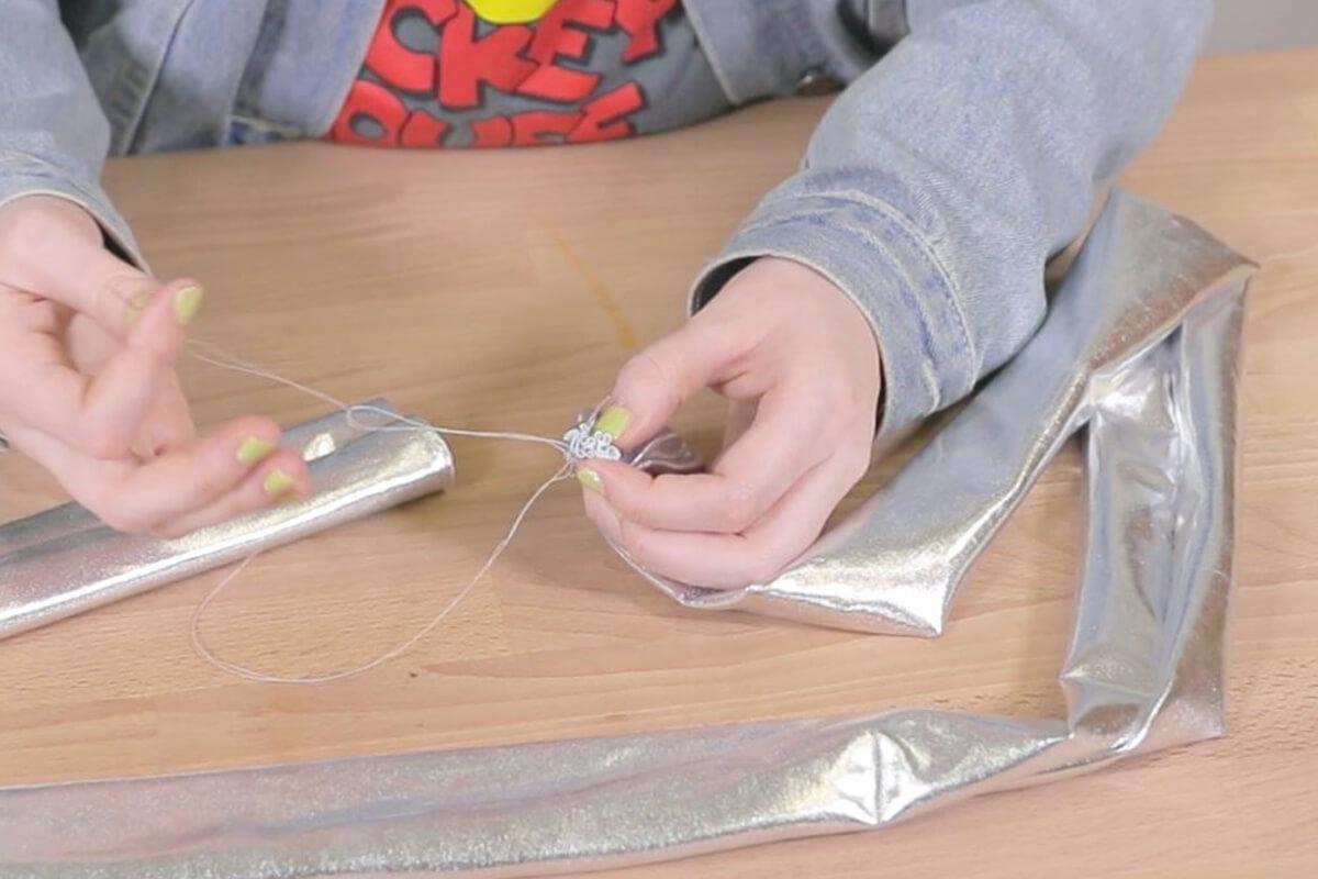 Hand sew one edge shut