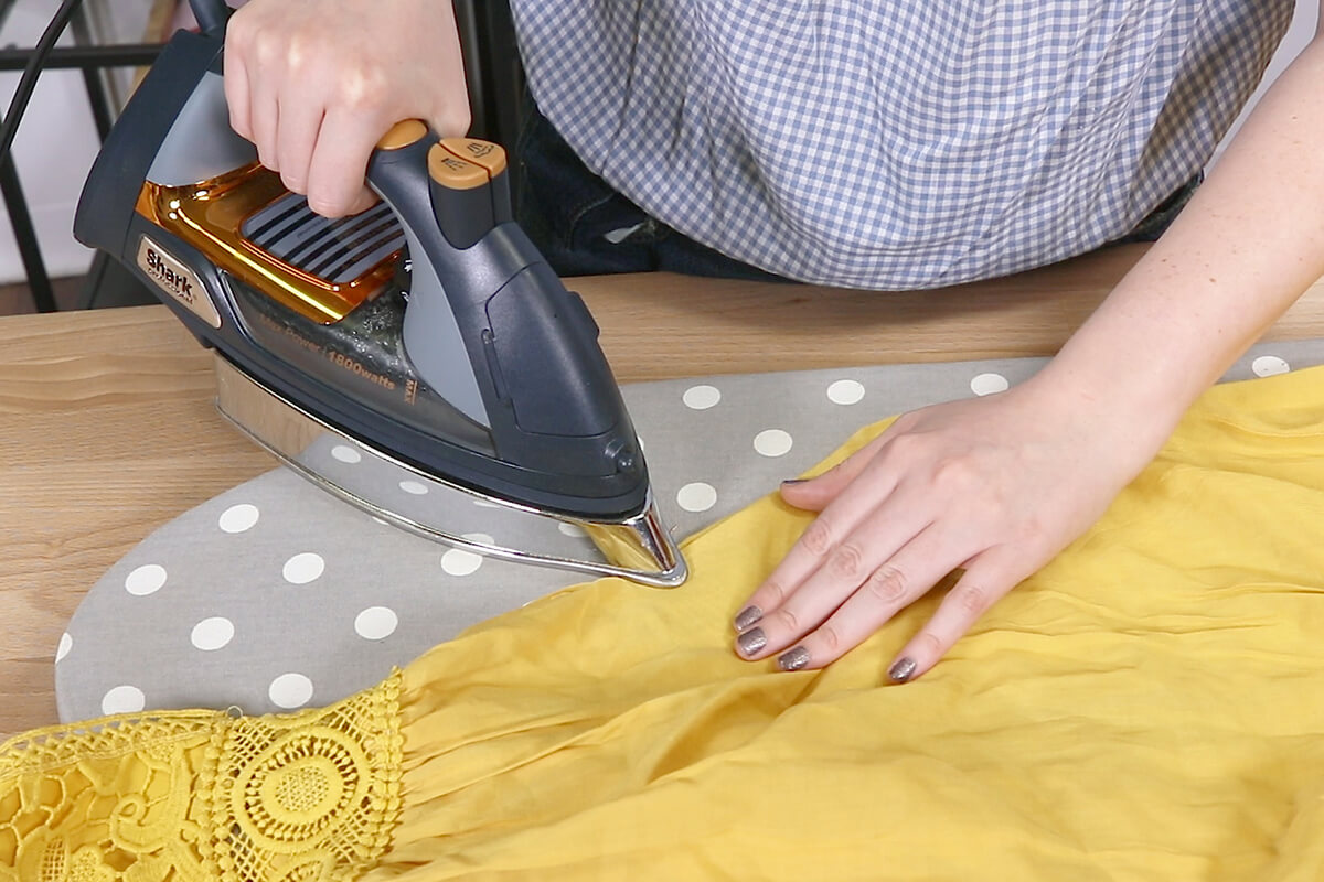 Iron the seam