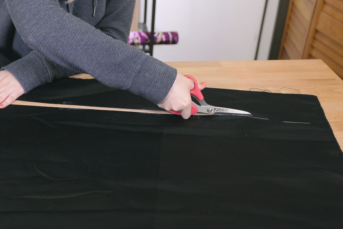 How to Make a Sequin Ruffle Pillow - Step 1