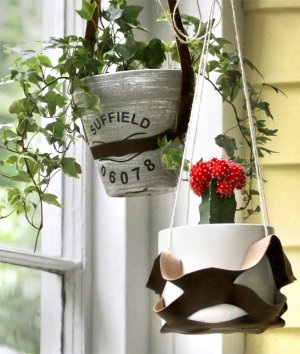 How to Make Faux Leather Plant Hangers