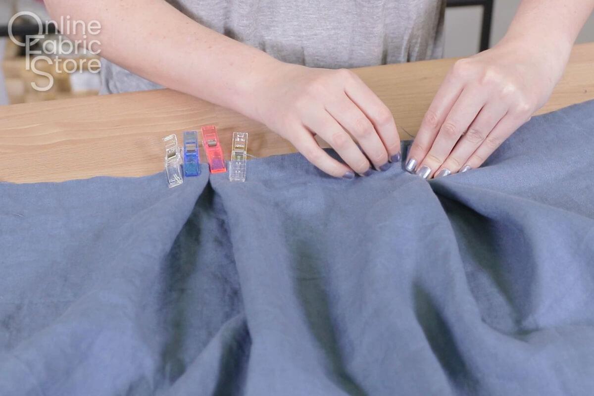 Create box pleats