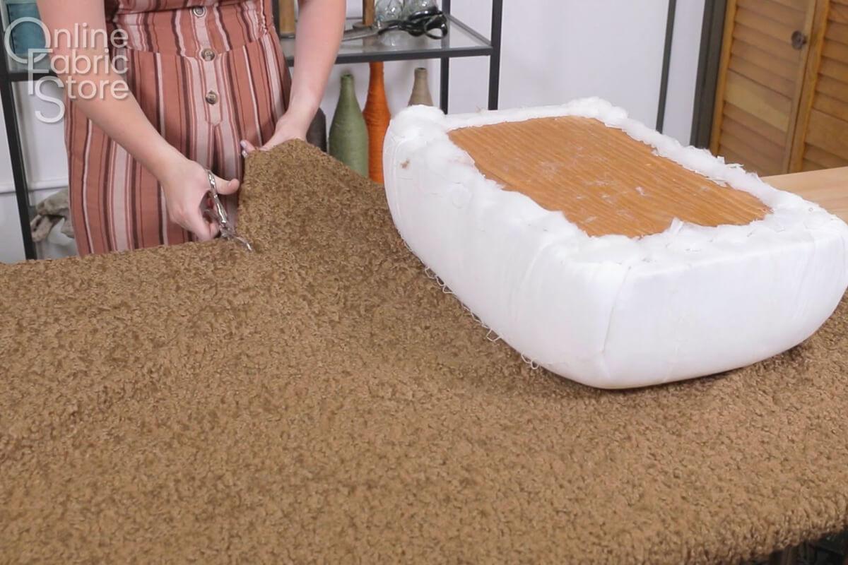 Cut upholstery fabric
