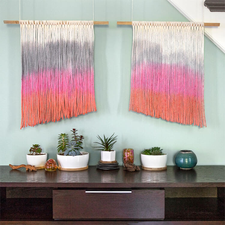 How to Make a Dip Dyed Tapestry