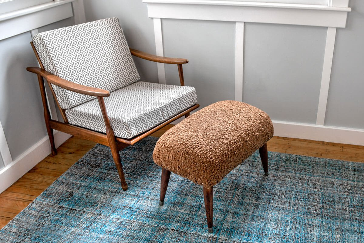Reupholstered Ottoman