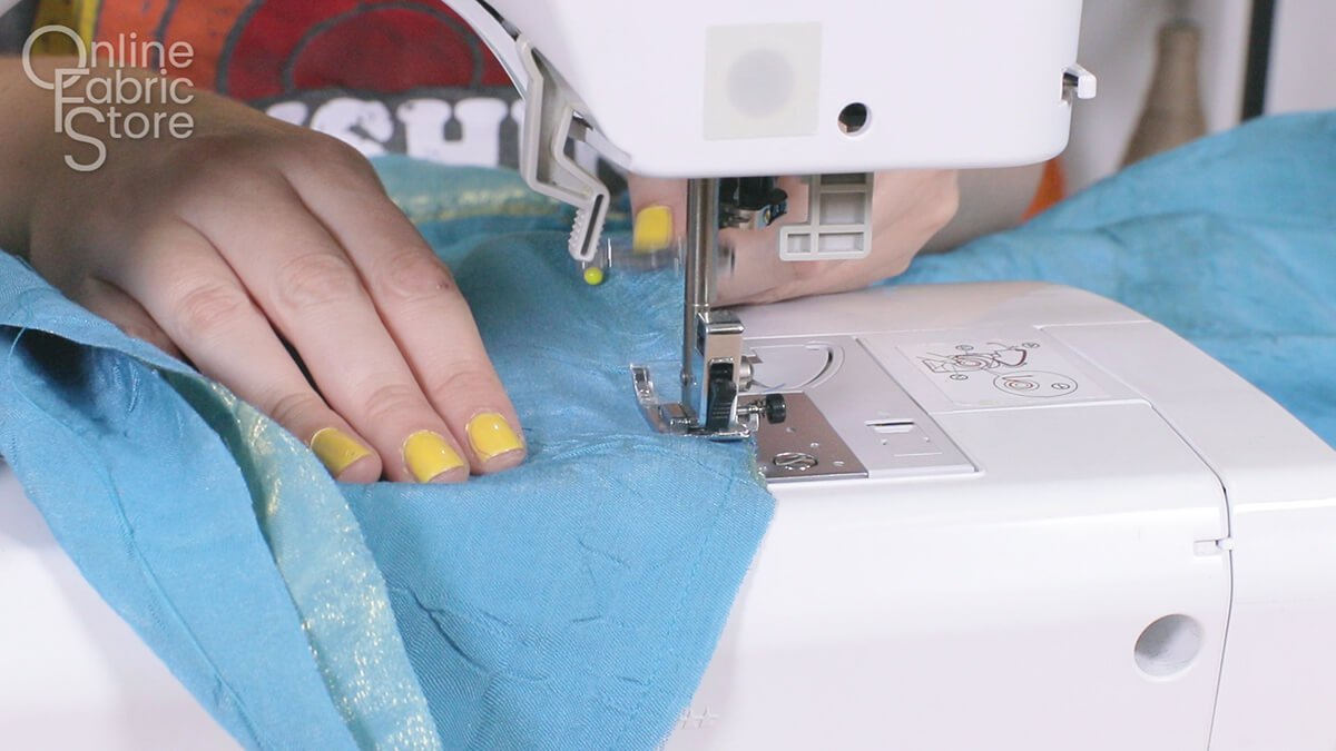 How to Make Bathing Suit Cover-Up Pants - Step 2