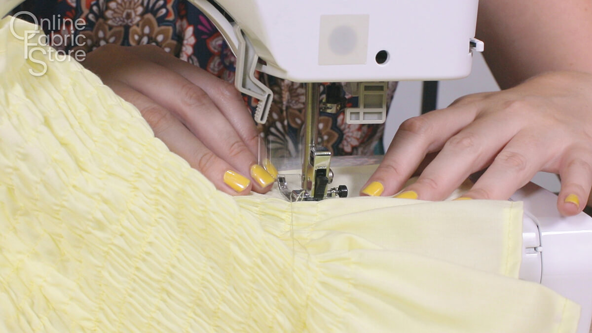 How to Make Bathing Suit Cover-Up Pants - Step 3