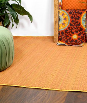 How to Make a Fabric Rug with Trim