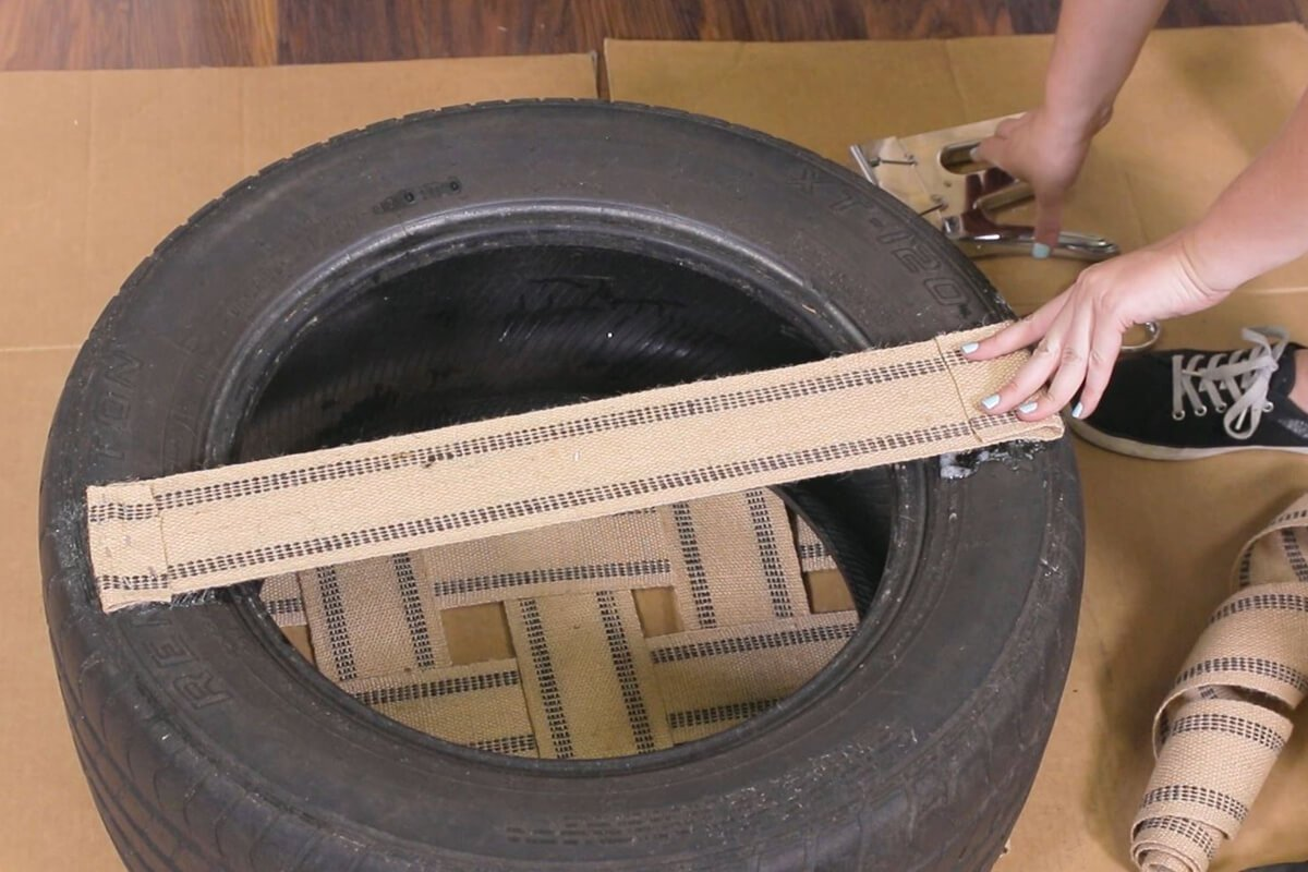 Attach a piece of webbing to the bottom