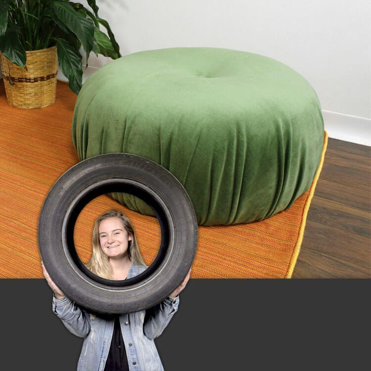How to Make an Upcycled Floor Pouf