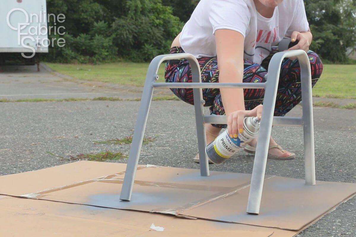 Spray paint chair