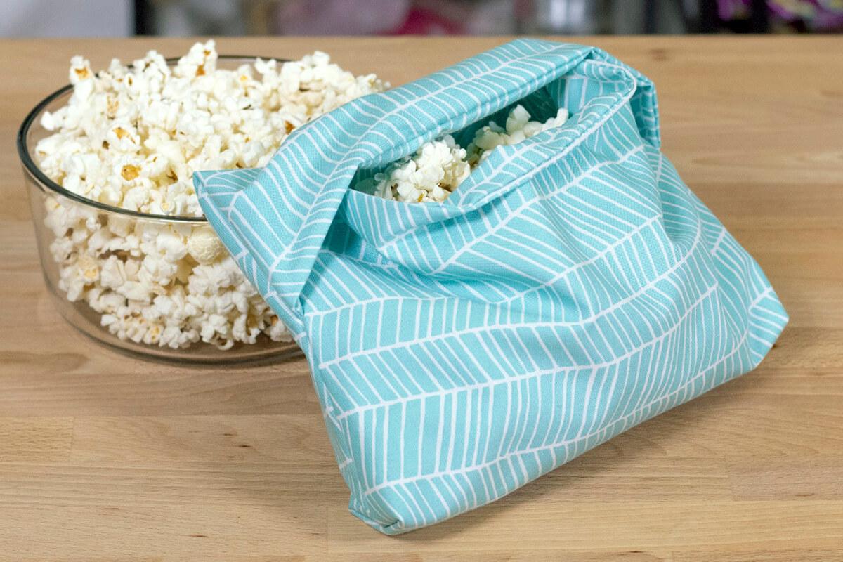 Reusable popcorn bag