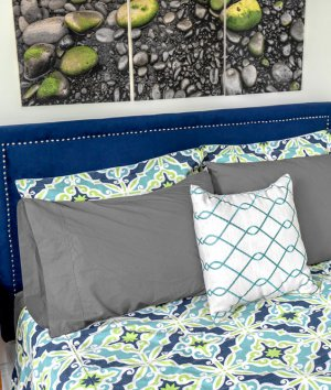 How to Make an Upholstered Headboard with Nail Head Trim