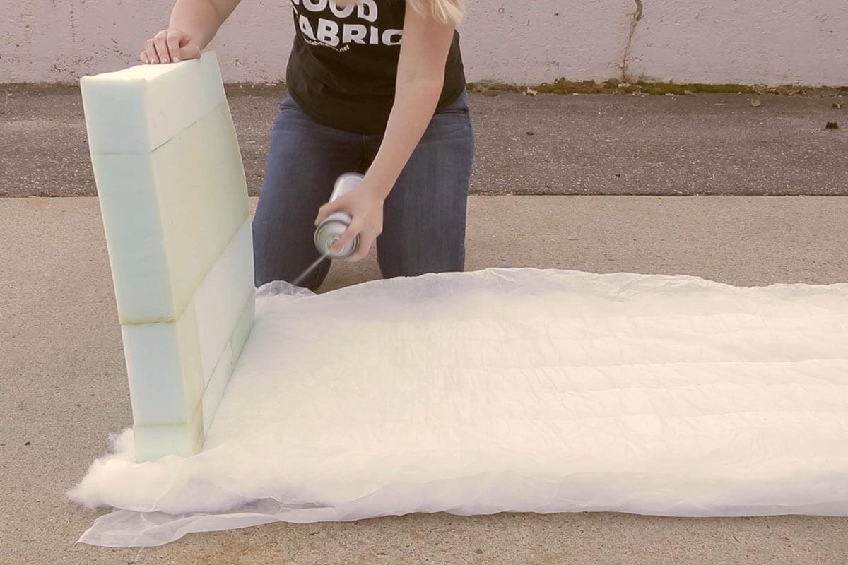 Attach Dacron Cushion Wrap