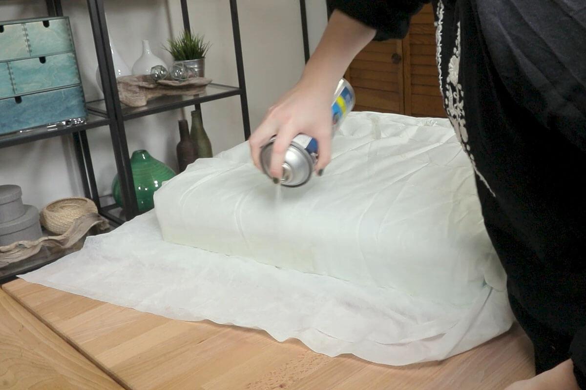 Attach Dacron onto the Foam