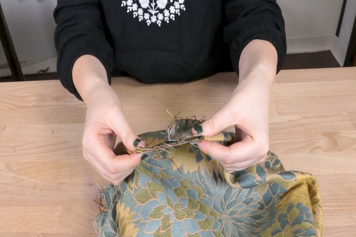 Fold the Gussets so the Seam is Centered