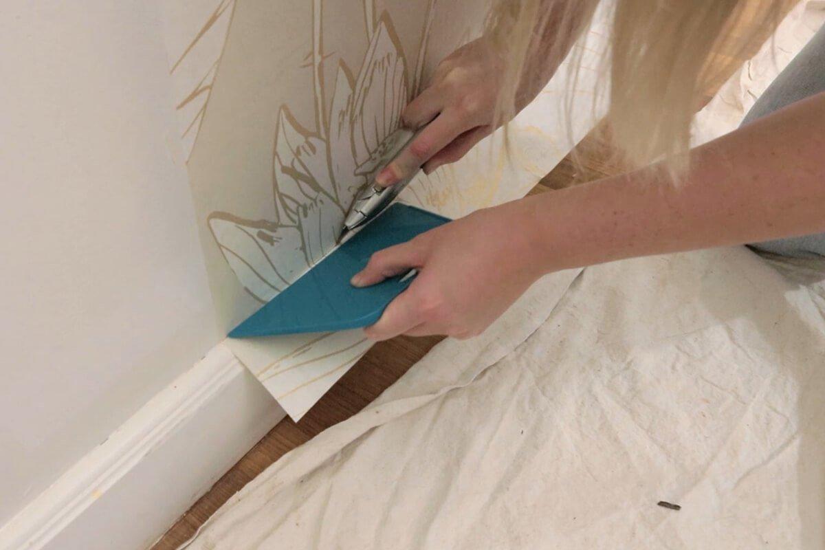 Cut away excess paper