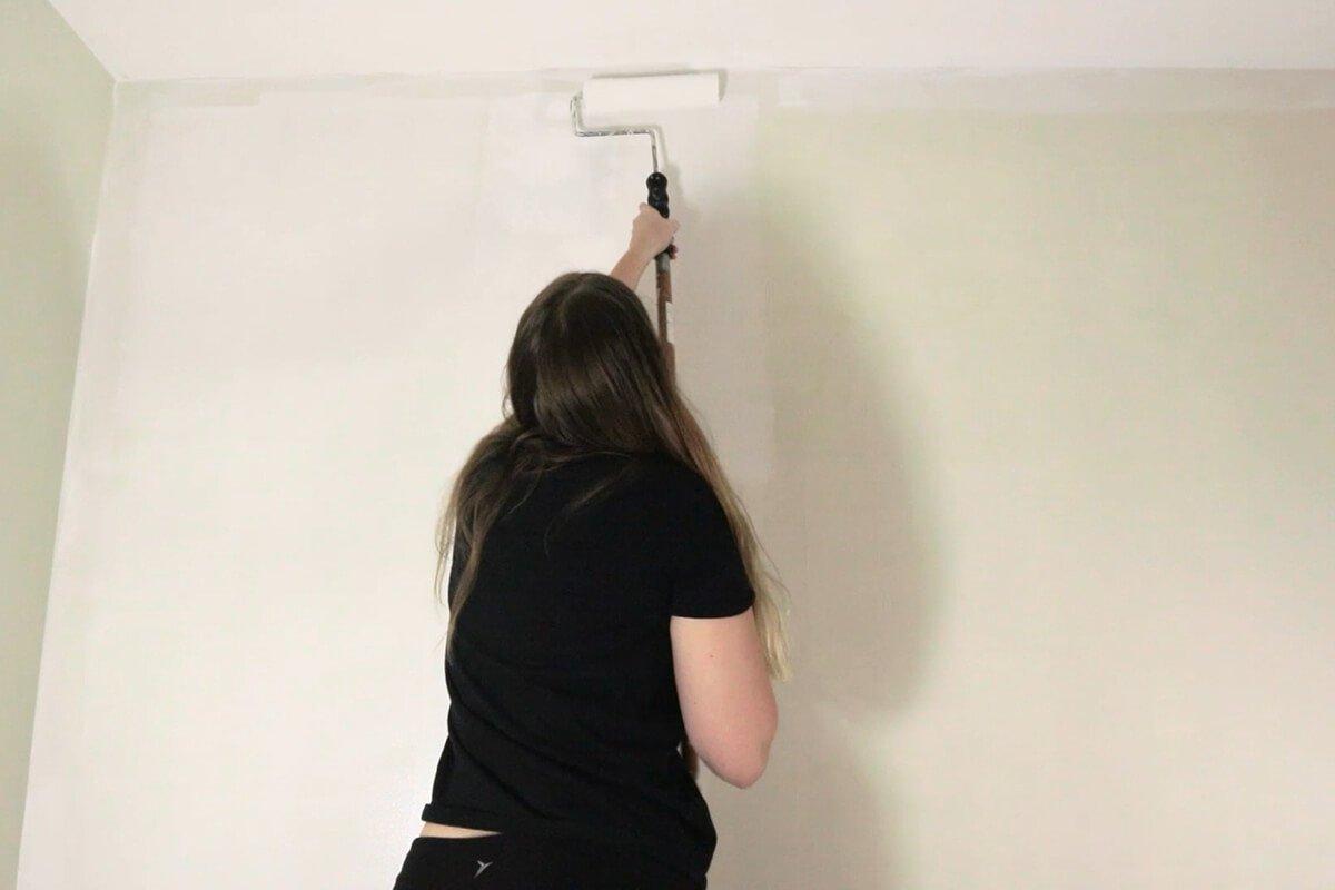 Paint on wallpaper primer